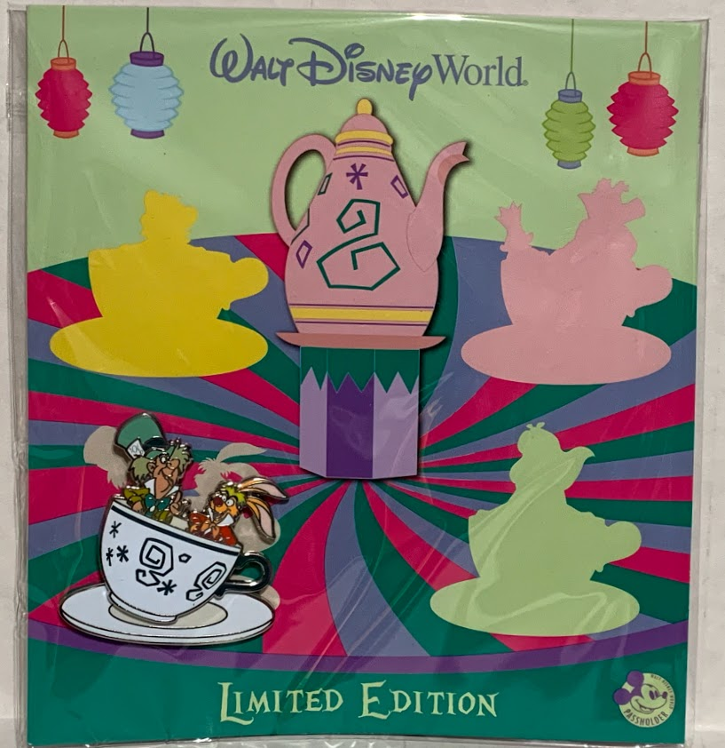 Mad Hatter and March Hare Quarterly Passholder Disney Pin