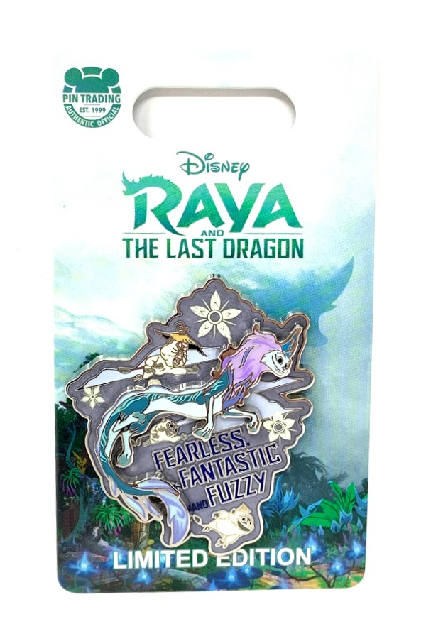 Raya and the Last Dragon Fearless Fantastic and Fuzzy Limited Edition Disney Pin